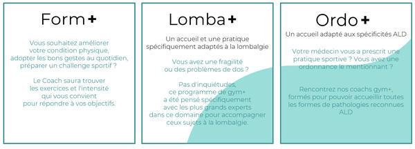 programme gym+